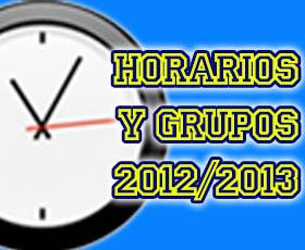 Horarios y grupos próxima temporada