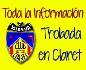 Información de la trobada en Claret