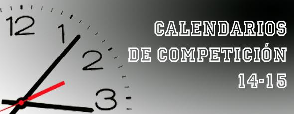 Calendarios de competición segunda fase