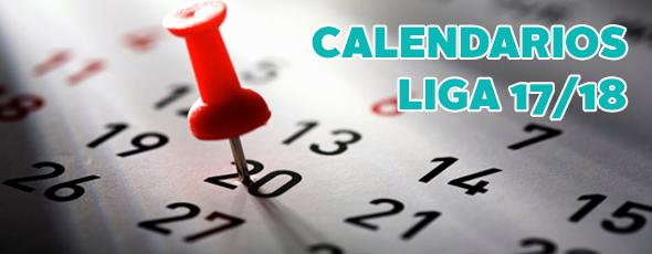 Calendarios de competición 17/18